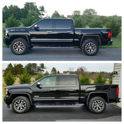 2018 Gmc Sierra Leveling Kit Before And After