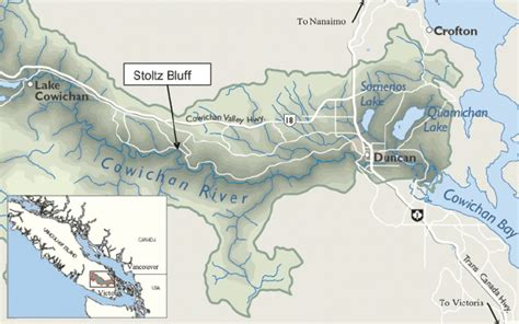 Map Cowichan River