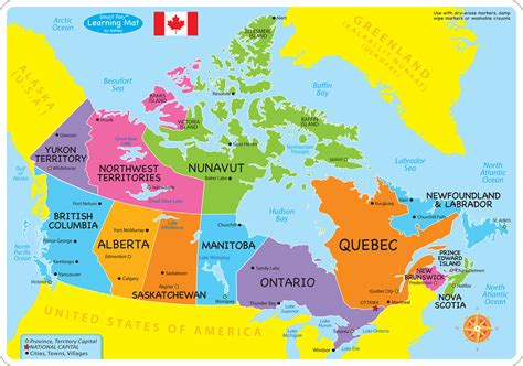 Map From Canada