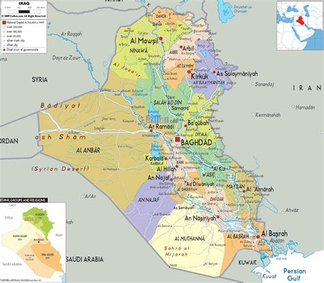 Map In Iraq