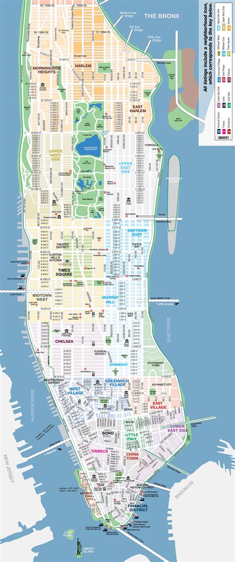 Map New York City Manhattan