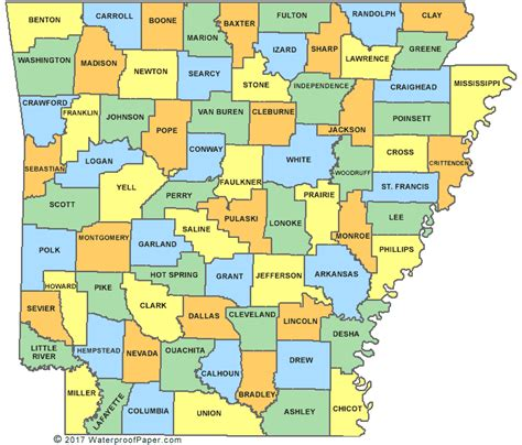 Map Of Ar Counties