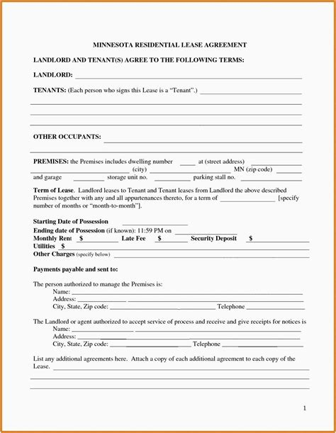 Truck Rental Agreement Template