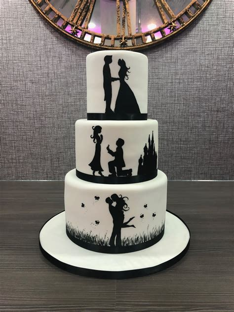 wedding cake silhouette